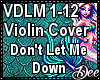 Violin: Dont Let Me Down