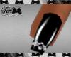 Black Silver Bat Nails
