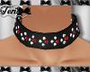 Black Studs Biker Collar