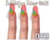 BubbleGum Rawr- Nails
