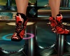 red dj schoes