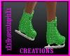 Glitter Green Skates