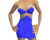 Blue Mini Dress w/links