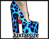 Blue Leopard Pumps