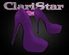 Diana Purple Heels