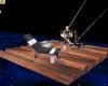 Wood Raft and Fishing