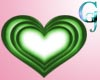 Flashing Green Heart