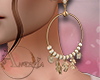 ~A~ Aura Earrings Cream+