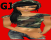 army hat black&hair