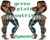 green/blue plaid full of