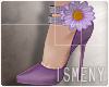[Is] Flower Heels Purple