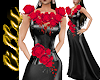 Wedding dress black rose