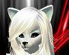 ~N~ Ice White Cat Ears