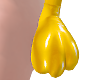 B! Yellow PVC Paw Gloves