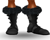 Black Fur Boots(Male)
