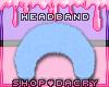 Blue Fur Headband