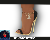 'Chanel Gold Heels
