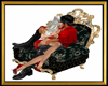 Royal Black Kiss Chair