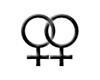 Lesbian Logo Noir