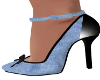 Stas-Lt Denim Blue Heels