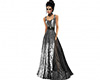 Black silver Gown