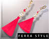 ~F~Summer Earrings Pink