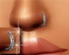 Nose Ring Silver Diamond