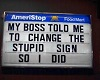 Funny Sticker sign