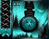 CyberGoth Teal Headphone