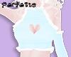 ♡ Heart Ruffle - Blue