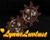 Steampunk floor gears
