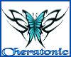 Teal Butterfly Tatt