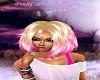 Blonde/Pink Messy Bob