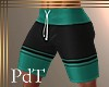 PdT Teal&Blk Boardies4 M
