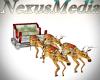 Animated Reindeer sled