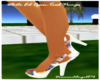 White Ed Open-Toed Pumps