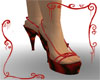 {G}Red Embossed Shoes