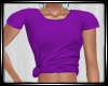 Purple Knotted Tee