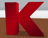 Red Letter K Seat