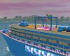 Party Blue Cruise Ship