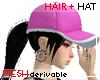 Hair + Hat pink