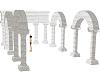 old ruin columns arches