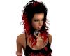 LAYA RED TIP BLACK CURLY