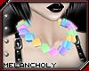 Cubes Necklace: Pastel