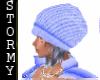 Blue Tobogen Hat & Hair