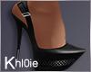 K black elegant heels