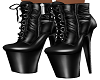 Black Latex Yeniz Boots