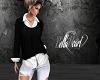 Black-White Sweater Top