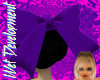 Dark Purple Hair Bow