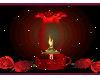 rose /candle potrtrait